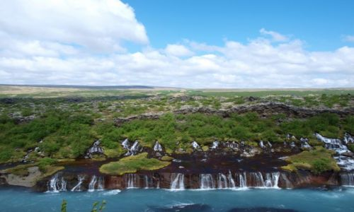 Zdjecie ISLANDIA / Zachodnia Islandia / - / Hraunfossar ujęcie 2