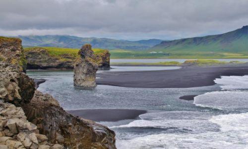 Zdjecie ISLANDIA / - / Przylądek Dyrholaey / Barwy Islandii