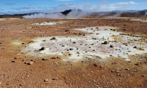Zdj�cie ISLANDIA / P�nocna Islandia / Hverarond / siark� malowane