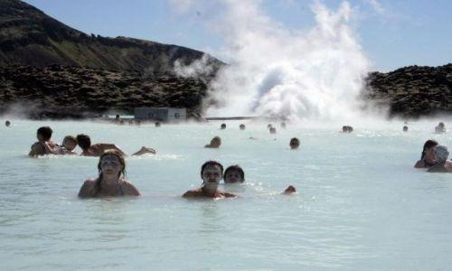 Zdjęcie ISLANDIA / Okolice Reykjaviku / Błękitna Laguna / mleczna kąpiel