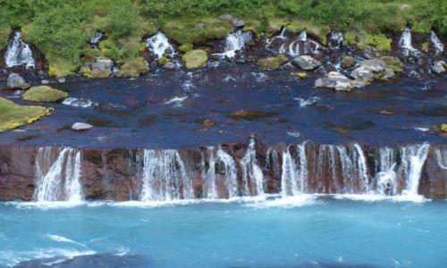 Zdj�cie ISLANDIA / Zachodnia Islandia / - / Hraunfossar uj�cie 3