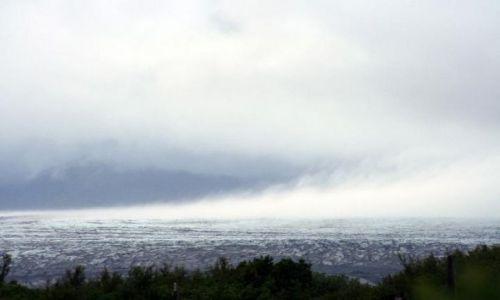 Zdjecie ISLANDIA / południowa Islandia / lodowiec Vatna / parujący lodowi