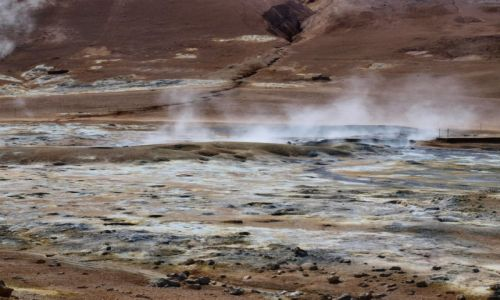 Zdjecie ISLANDIA / Północna Islandia / Hverarond / inna planeta