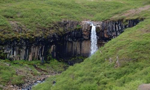 Zdjecie ISLANDIA / Południowa Islandia / Park Narodowy Skaftafell / sfartifoss ujęcie 3