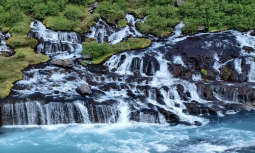 Zdjecie ISLANDIA / Zachodnia Islandia / - / Hraunfossar ujęcie 4