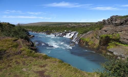 Zdjecie ISLANDIA / Wodospad Barnafoss / Wodospady / Islandia