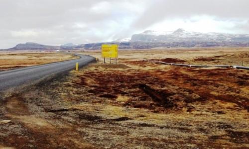 Zdjecie ISLANDIA / Islandia / Islandia / Przez pustkowia Islandii