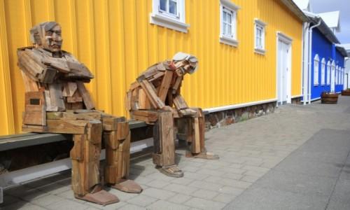 Zdjecie ISLANDIA / Siglufjörður / Siglufjörður / Dziadki w deche