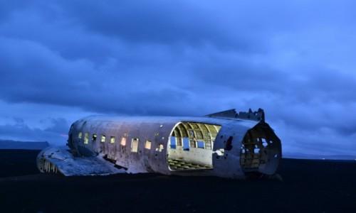 Zdjęcie ISLANDIA / - / Dc-3 Plane Wreckage. / Islandia -Grudzien 2016
