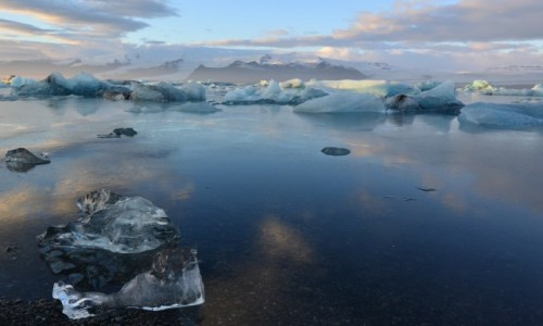 Zdjęcie ISLANDIA / - / Jökulsárlón - Lodowa Laguna / Islandia -Grudzien 2016