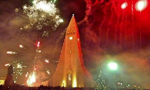 Zdjecie ISLANDIA / Reykjanes / Reykjavik / Mamy Nowy Rok