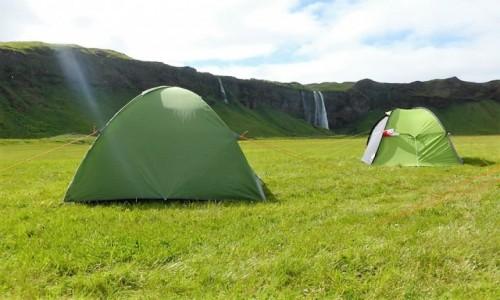 ISLANDIA / Islandia / Islandia / Seljalandsfoss i nasze przenośne domki