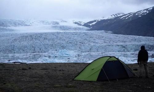 Zdjecie ISLANDIA / Islandia / Islandia / Lodowiec na śni