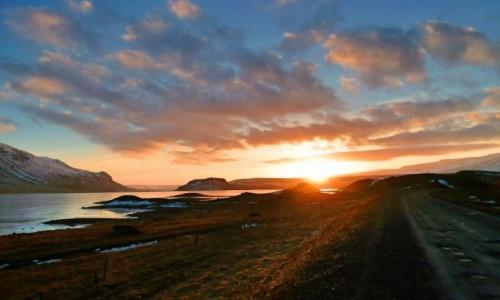 Zdjecie ISLANDIA / Northwest / Vatsndalsvergur / W samo południe