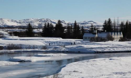 Zdjęcie ISLANDIA / Park Narodowy Thingvellir / Thingvallavatn / Letnia rezydencja prezydenta Islandii