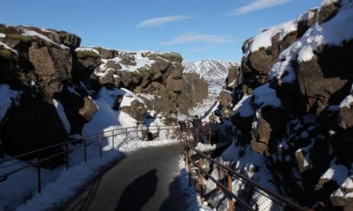 Zdjecie ISLANDIA / Park Narodowy Thingvellir  / . / Wąwóz Almannagja.