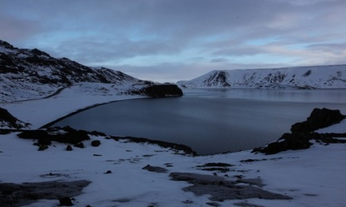 Zdjecie ISLANDIA / Reykjavik / Jezioro Kleifarvatn / Przyprószone śniegiem