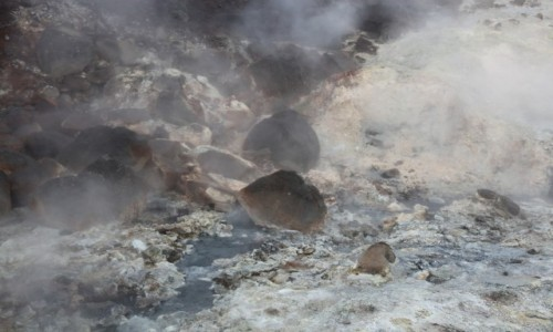 Zdjecie ISLANDIA / Reykjavik / Krysuvik / Pole geotermalne Seltun