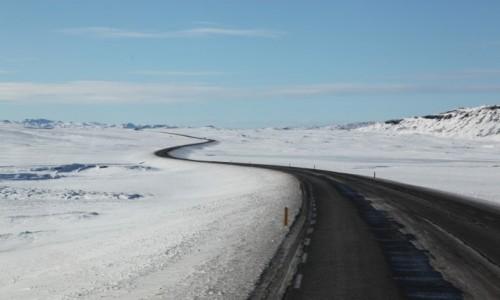 Zdjecie ISLANDIA / Reykjavik / Thingvellir / / Wstęga drogi