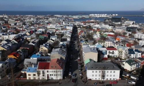 Zdjęcie ISLANDIA / Reykjavik / Katedra luterańska Hallgrimskirkja  / Panorama