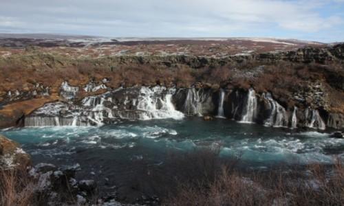 Zdjęcie ISLANDIA / Reykjavik / Husafell / Wodospad Hraunfossar