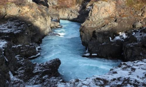 Zdjecie ISLANDIA / Reykjavik / Husafell  / Wodospad Barnafoss