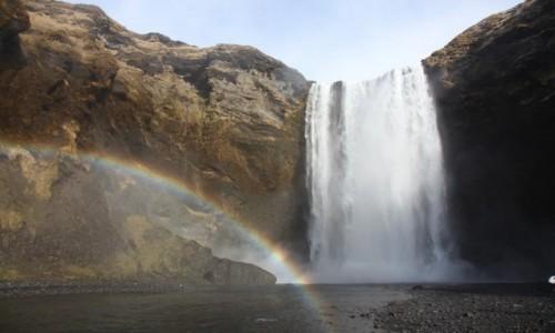 Zdjecie ISLANDIA / Południowe wybrzeże / Rzeka Skoga / Wodospad Skogafoss