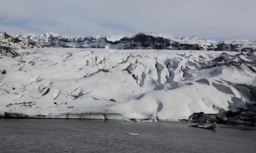 Zdjęcie ISLANDIA / Południowe wybrzeże / Lodowiec Myrdalsjokull  / Dla ochłody