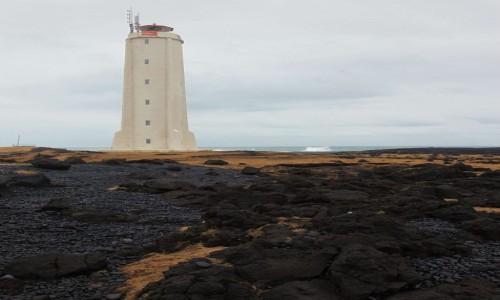 Zdjęcie ISLANDIA / Półwysep Snæfellsnes / Malarrif  / Latarnia morska