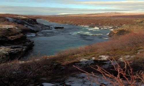 Zdjecie ISLANDIA / Reykjavik / Husafell  / Rzeka Hvíta