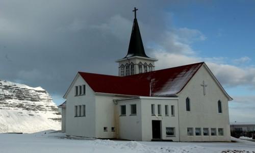 Zdjęcie ISLANDIA / Półwysep Snæfellsnes / Grundarfjordur / Kościół