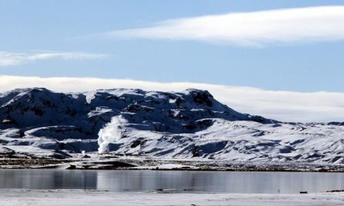 Zdjecie ISLANDIA /  Geysir / Strokkur  / Islandzki widoczek