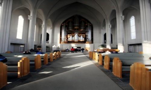 ISLANDIA / Reykjavik / Katedra luterańska Hallgrimskirkja  / Organy