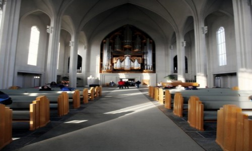 Zdjęcie ISLANDIA / Reykjavik / Katedra luterańska Hallgrimskirkja  / Organy