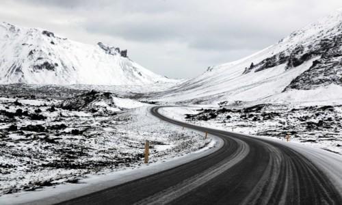 Zdjecie ISLANDIA / Półwysep Snæfellsnes / Arnarstapi / Górska droga