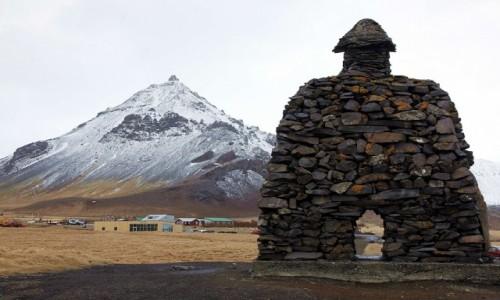 ISLANDIA / Półwysep Snæfellsnes / Arnarstapi / Pomnik