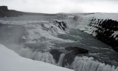 Zdjecie ISLANDIA / Rzeka Hvítá  / Hvita / Wodospad Gullfoss