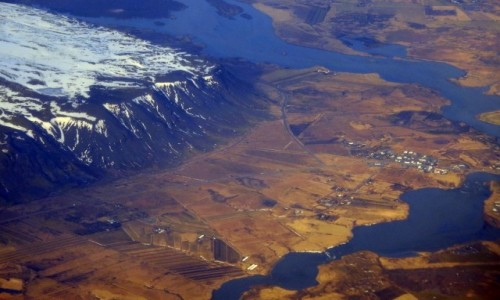 ISLANDIA / Islandia / Islandia / Z lotu ptaka