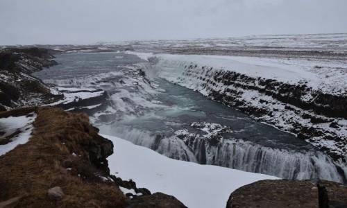 Zdjecie ISLANDIA / Islandia / Gullfoss / Wodospad Gullfoss