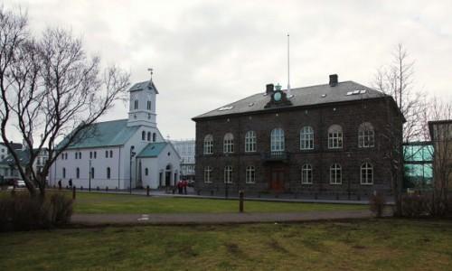 Zdjecie ISLANDIA / Reykjavik / Dzielnica Austurvöllur / Alþingishúsið – siedziba parlamentu islandzkiego