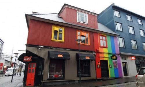 Zdjecie ISLANDIA / Reykjavik / Reykjavik / Kolorowo w deszczu