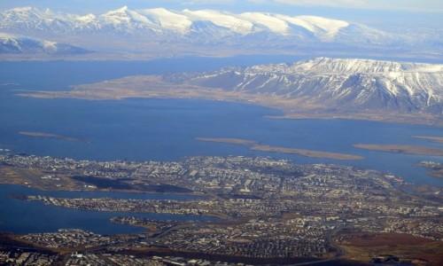 Zdjecie ISLANDIA / Reykjavik / Reykjavik / Reykjavik z powietrza