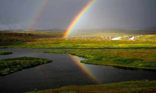 Zdjęcie ISLANDIA / Fiordy zachodnie / Fiordy zachodnie / Tęcze