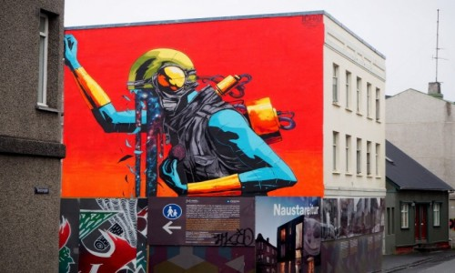 Zdjecie ISLANDIA / Reykjavik / Reykjavik / Mural