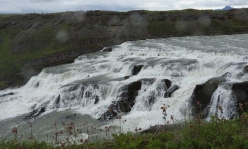 Zdjęcie ISLANDIA / Południe / Gullfoss / Gullfoss z drugiej strony rzeki