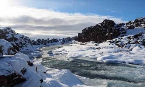 Zdjecie ISLANDIA / okolice rykjaviku / Park Narodowy  Þingvellir /  Zimowy Þingvellir