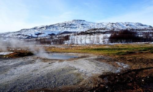 Zdjęcie ISLANDIA / okolice Reykjaviku / Geysir, dolina Haukadalur / Źródła geotermalne