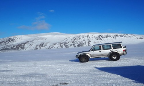 Zdjecie ISLANDIA / zachodnia Islandia / Langjökull / Na lodowcu Langjökull