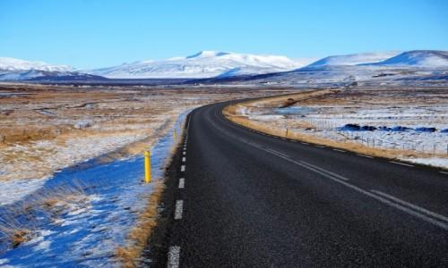ISLANDIA / Zachodnia Islandia / w drodze / Droga