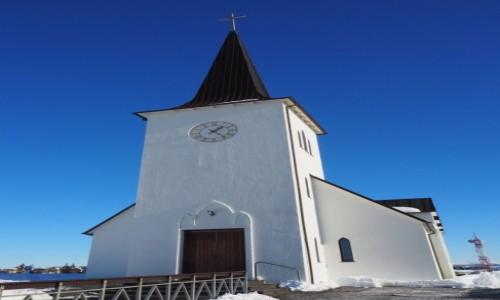 ISLANDIA / zachodnai Islandia / Borgarnes / Kościółek